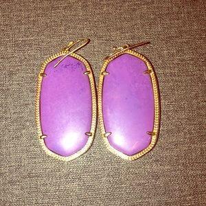 Purple large Kendra Scott earrings